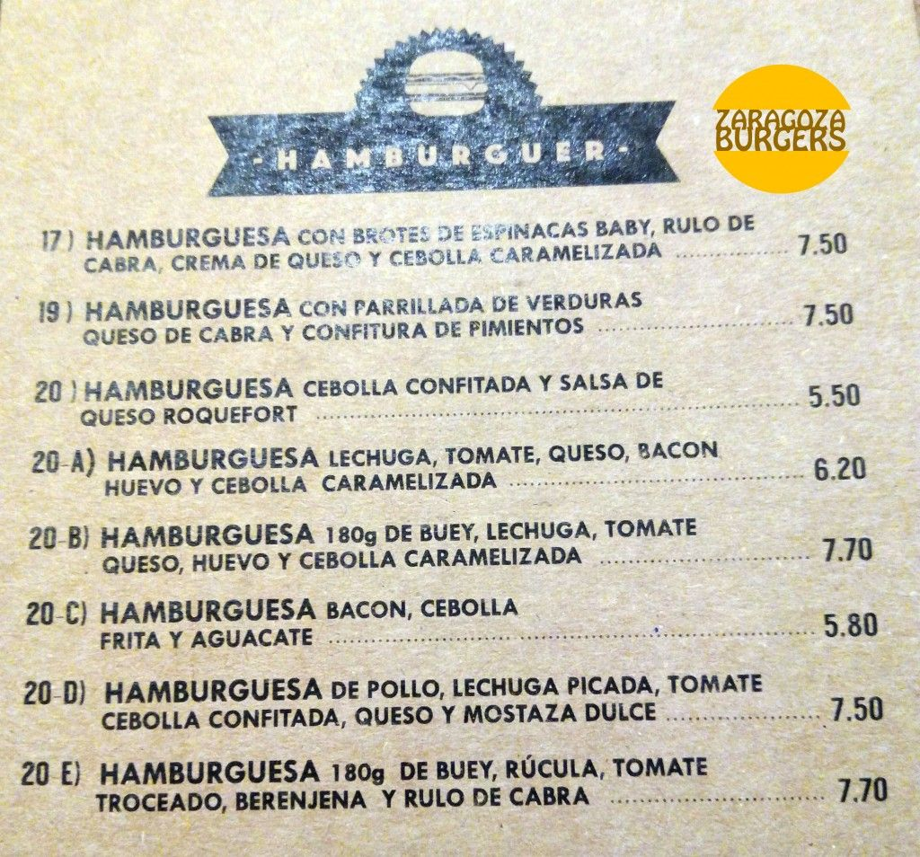 Carta hamburguesas petit comite