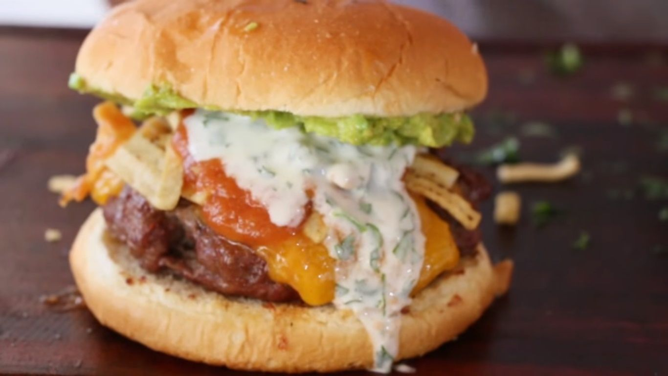 Nacho Burger by Bears in the kitchen