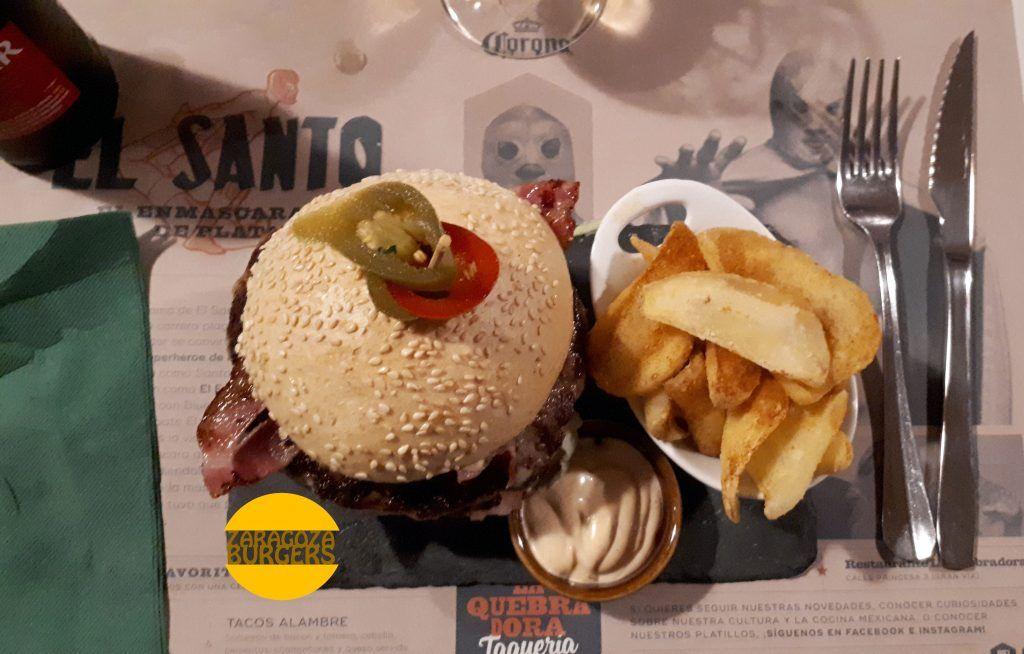 Hamburguesa La Quebradora Zaragoza Burger Fest